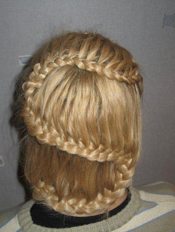 пошаговое плетение кос в картинках.